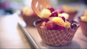 Fruit Salad Waffle Bowls