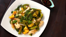 Squid & Pineapple Stir Fry