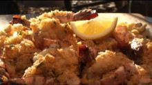 Shrimp with Scallop Butter Stuffing