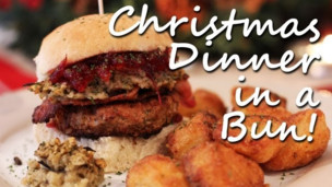 Thumbnail image for Christmas Dinner in a Bun: Turkey Burger