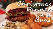 Christmas Dinner in a Bun: Turkey Burger