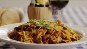 Thumbnail image for Pasta Recipe - Chicken and Sausage with Bowties