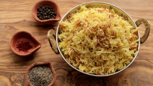 Saffron Almond and Black Pepper Rice