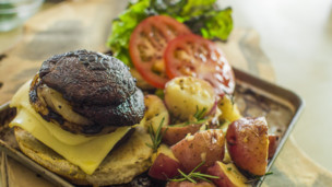 Thumbnail image for Mushroom & Swiss Burger