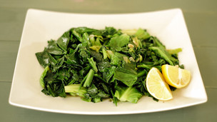 Thumbnail image for Spring Greens with Garlic, Lemon and Anchovy