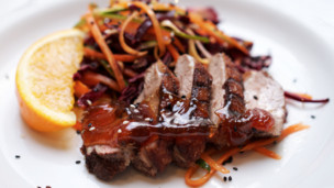 Duck with Asian Slaw