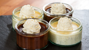 Chocolate and Vanilla Cream Pots