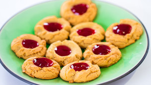 Thumbnail image for PBJ Thumbprint Cookies