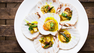 Cardamom & Curry Scallops