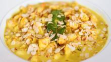 Saffron Curry Prawns