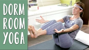 Thumbnail image for Dorm Room Yoga | 30 Minute Yoga Workout Video for Small Spaces
