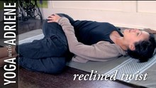 Reclined Twist Yoga Pose - Yoga With Adriene