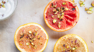 Grilled Pistachio Grapefruit