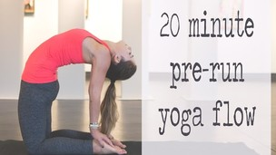 20 Minute Pre-Run Warm Up Yoga