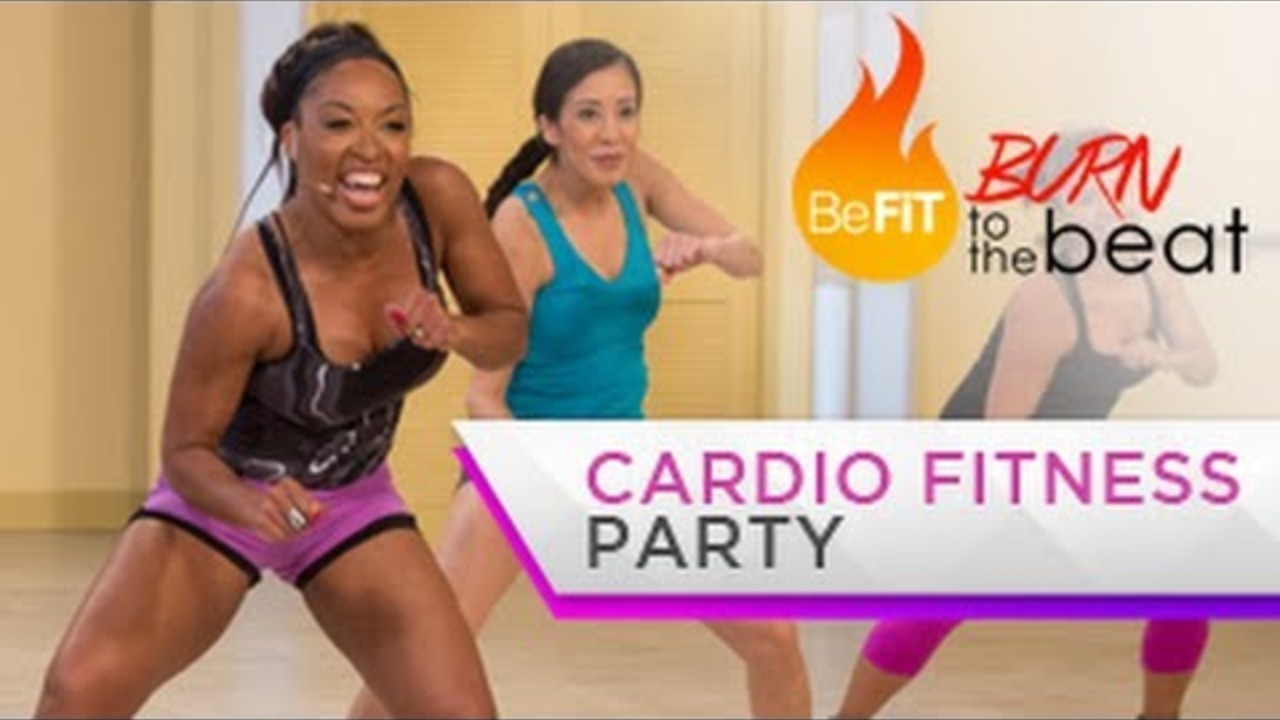 Cardio Fitness Party Workout Burn To The Beat Fitness And Exercise Videos Grokker