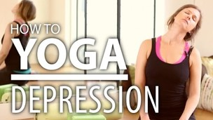 Yoga For Depression - 30 Minute Energizing Yoga Flow. Heart Opening