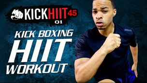 Thumbnail image for 45 Min. Cardio Kickboxing HIIT Workout