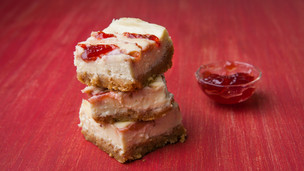 Thumbnail image for Strawberry Swirl Cheesecake Squares