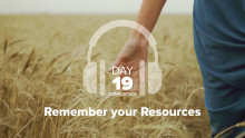 Day 19 – Confidence – Remember Your Resources